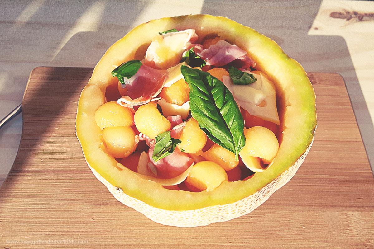 Salade estivale de melon